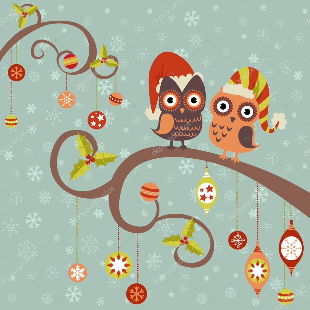 Imágenes Tecolotes Animados Tarjeta De Navidad De Tecolotes En