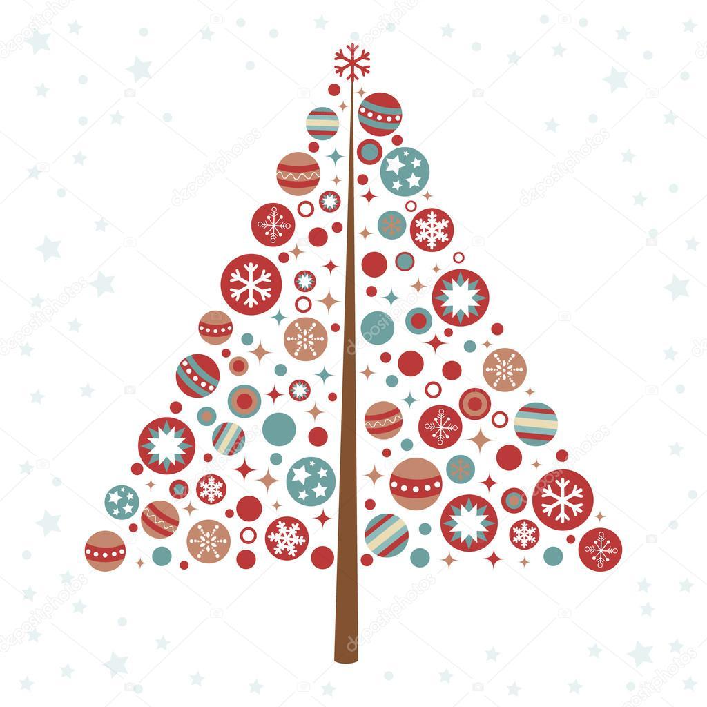 stilisierte design weihnachtsbaum mit weihnachten. Black Bedroom Furniture Sets. Home Design Ideas
