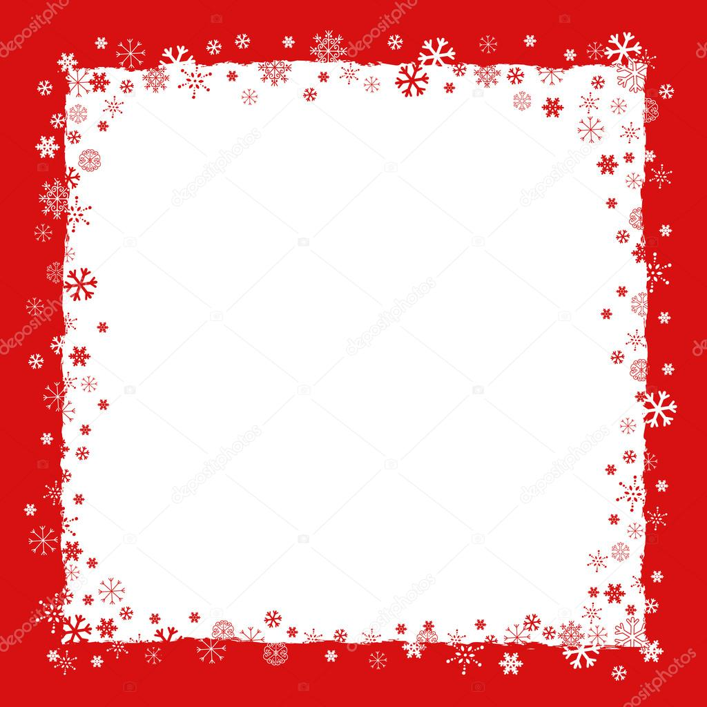 new year christmas background with snowflakes border stock vector