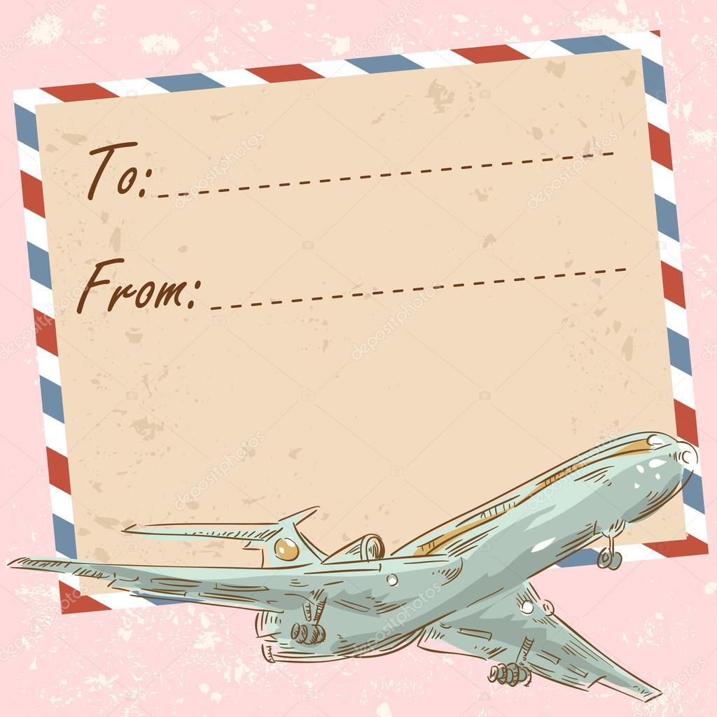 Авиа почтовая открытка