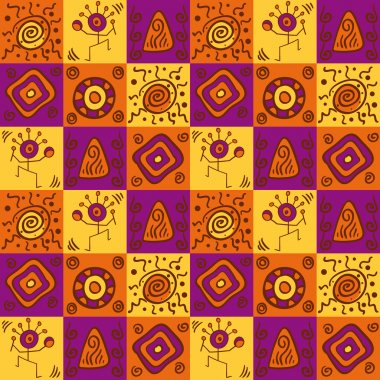 Abstract ethnical african seamless geometric pattern