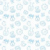Fotografie Baby-Spielzeug niedlichen Cartoon-Set nahtlose Muster