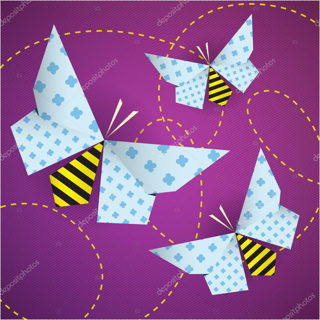 Bunte Origami Bienen Mit Mustern Stockvektor Yuzach 27616481