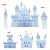 Fotografie roztomilé kreslené vektorové středověký hrad