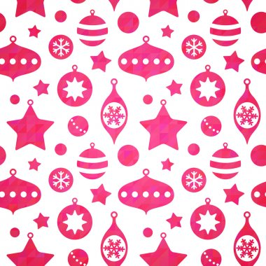 Cute christmas toys seamless pattern