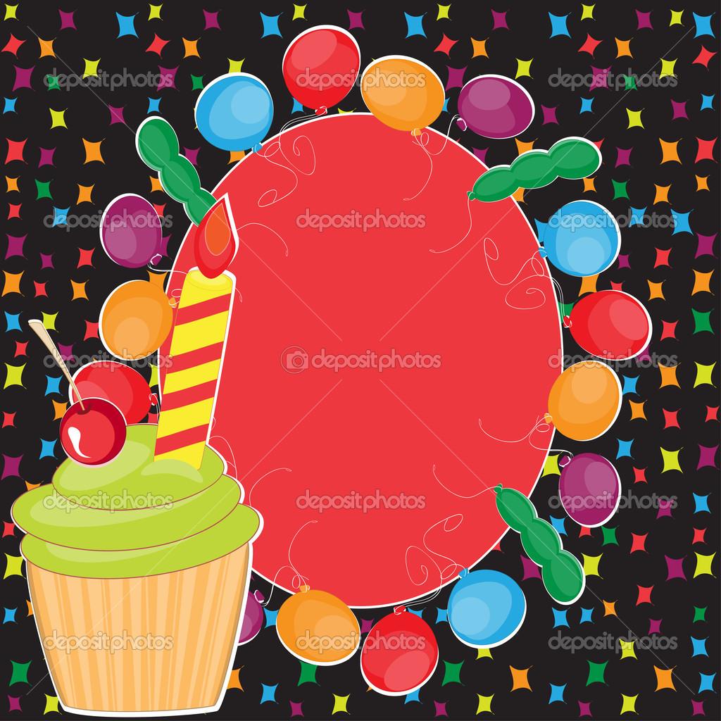 saludo de feliz cumpleaños con marco — Vector de stock © mammairina ...