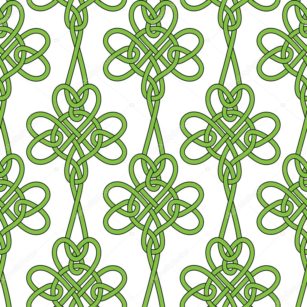 Shamrock flower background.