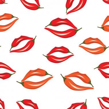 Seamless pattern, print of lips