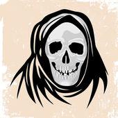 Fotografia concetto di morte nera mostro halloween