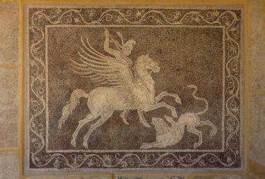 """Картина, постер, плакат, фотообои """"Мозаика на стене в археологическом музее Родос Греция."""", артикул 33085431"""