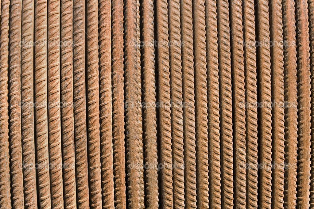 Varilla de acero oxidado como tel n de fondo foto de - Varillas de acero precio ...