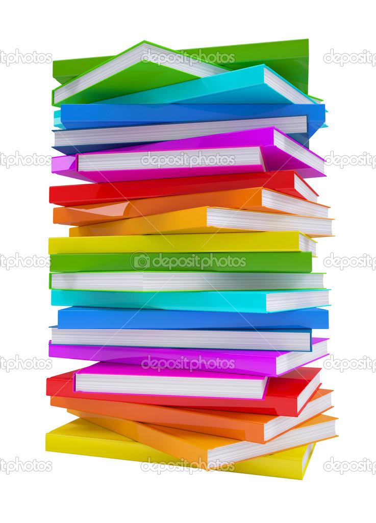 pila de libros coloridos — Foto de stock © cherezoff #13692344