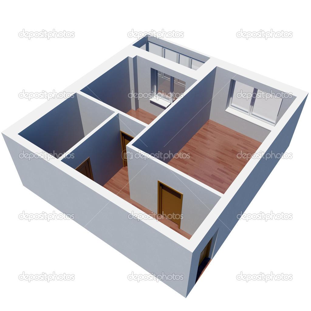 Planimetria appartamento 3d foto stock cherezoff 31842429 for Planimetria 3d