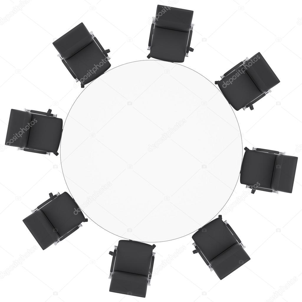sillas de oficina y mesa redonda — Foto de stock © cherezoff #33002469