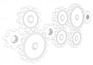 Wire frame gears