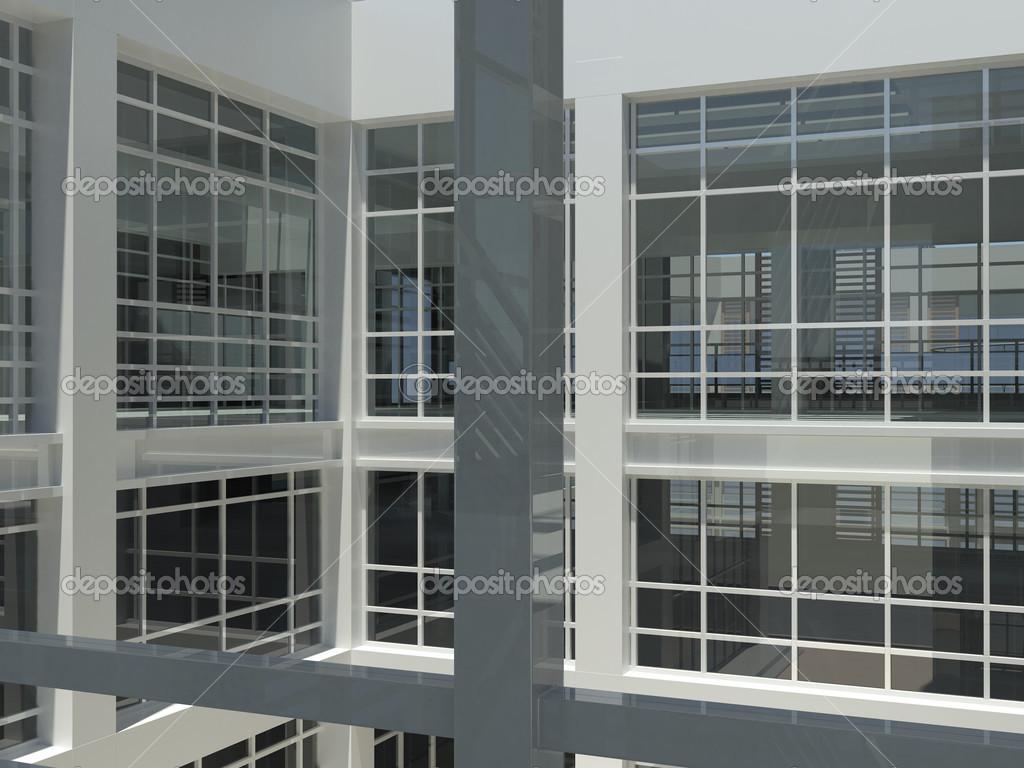 Treppenhaus architektur  Architektur: Treppenhaus und windows — Stockfoto © cherezoff #33924723