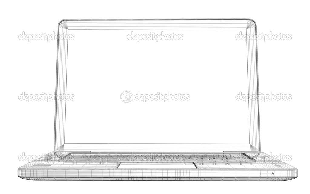 portátil. marco de alambre — Foto de stock © cherezoff #34758803