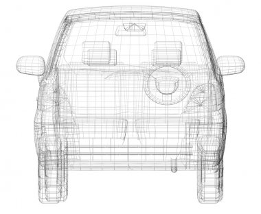 Wire frame car