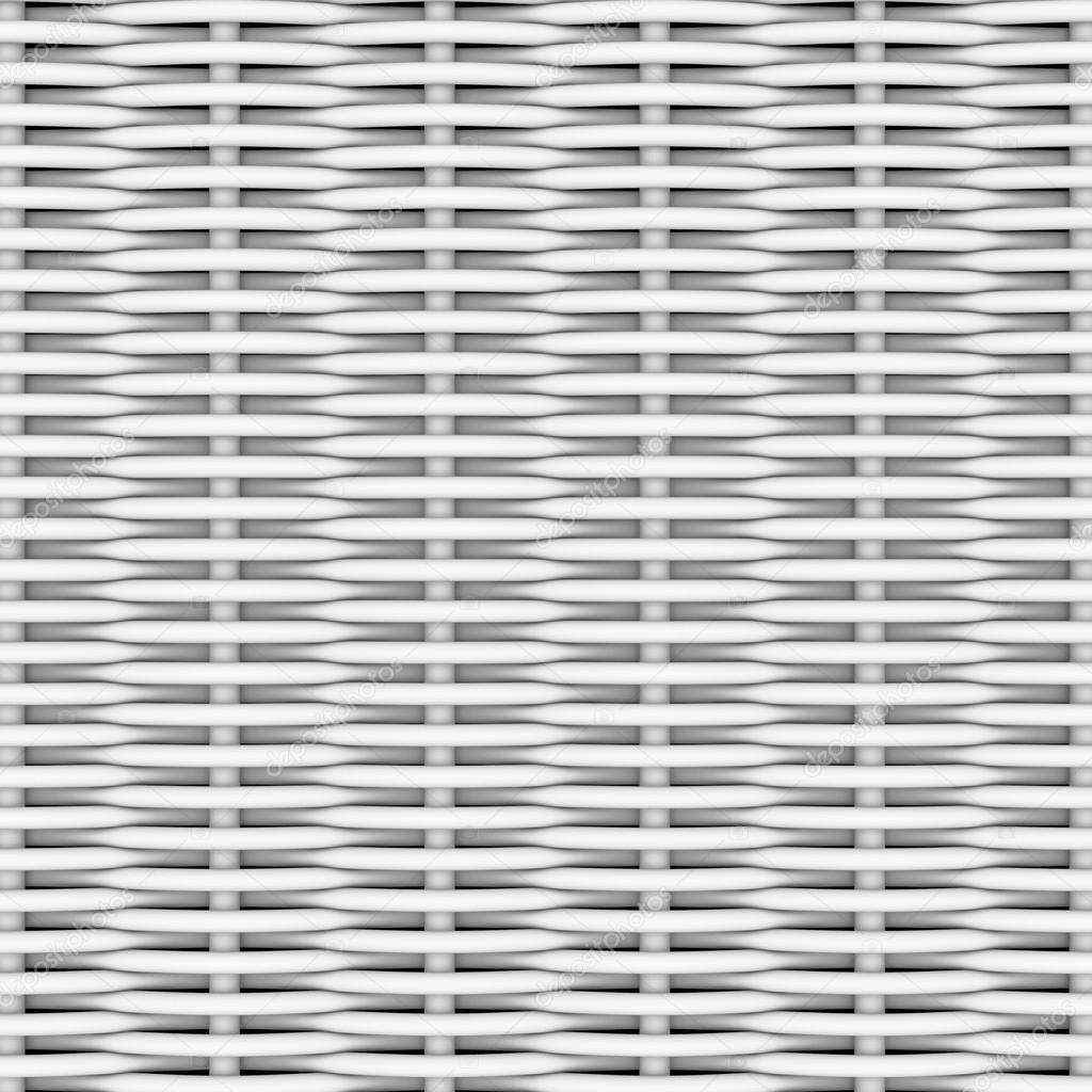 White woven rattan