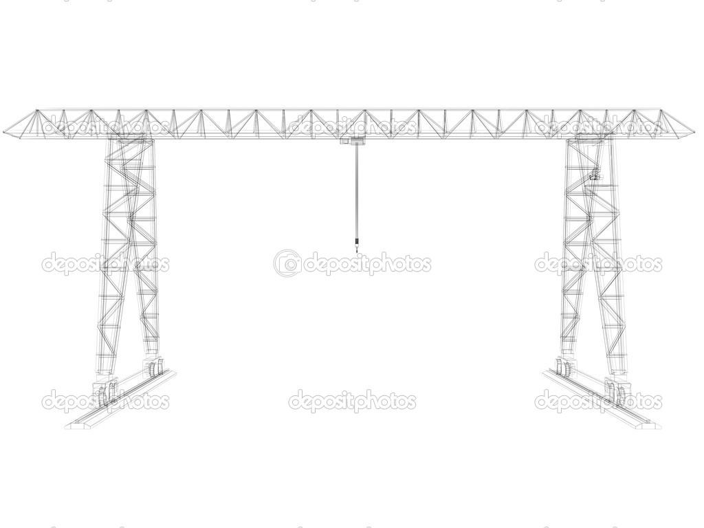 grúa de pórtico. marco de alambre — Fotos de Stock © cherezoff #37915665