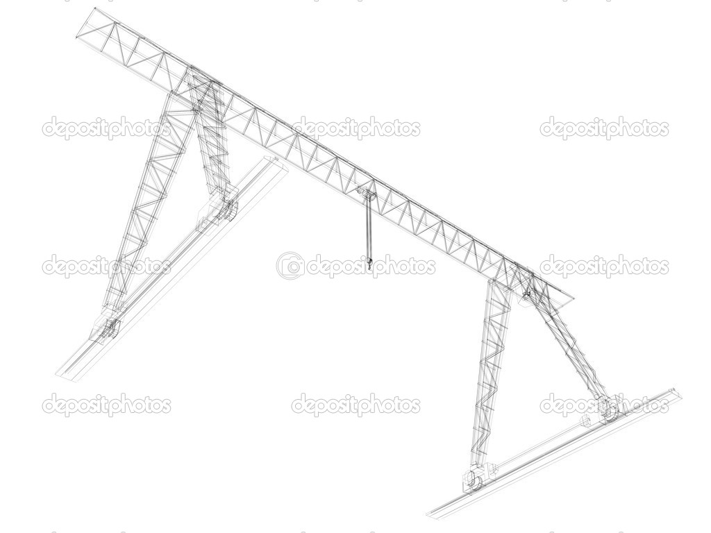 grúa de pórtico. marco de alambre — Fotos de Stock © cherezoff #37915671