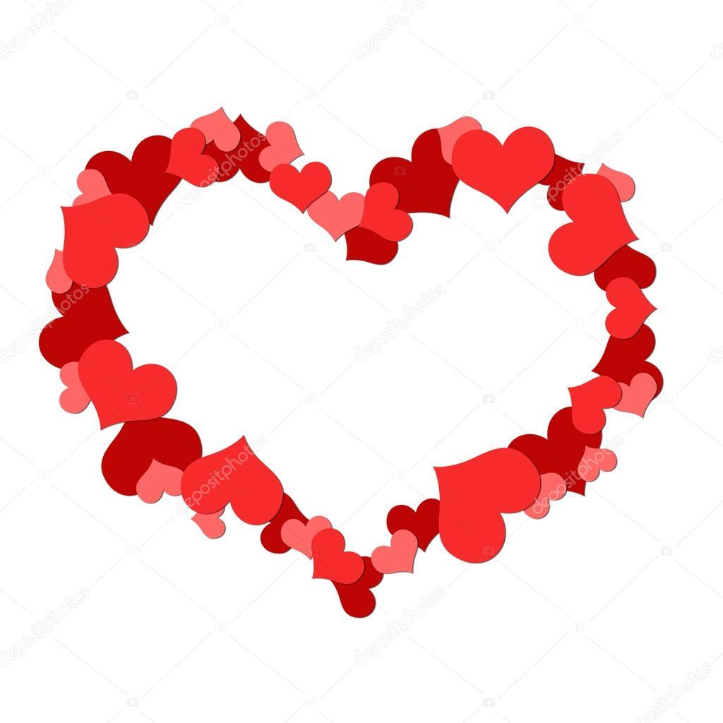 Gran Corazón Hecho Arriba De Corazones Fotos De Stock
