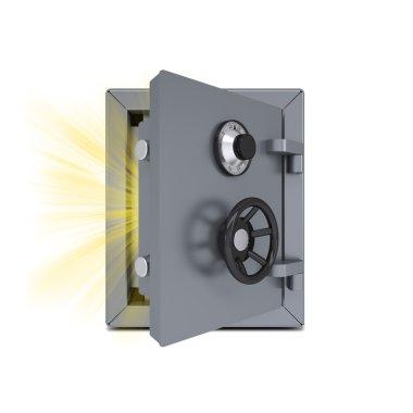 Open gold safe