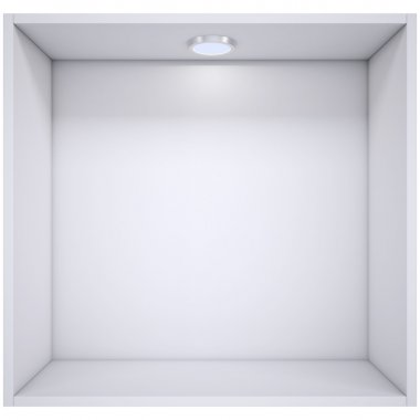 White shelf with a light source