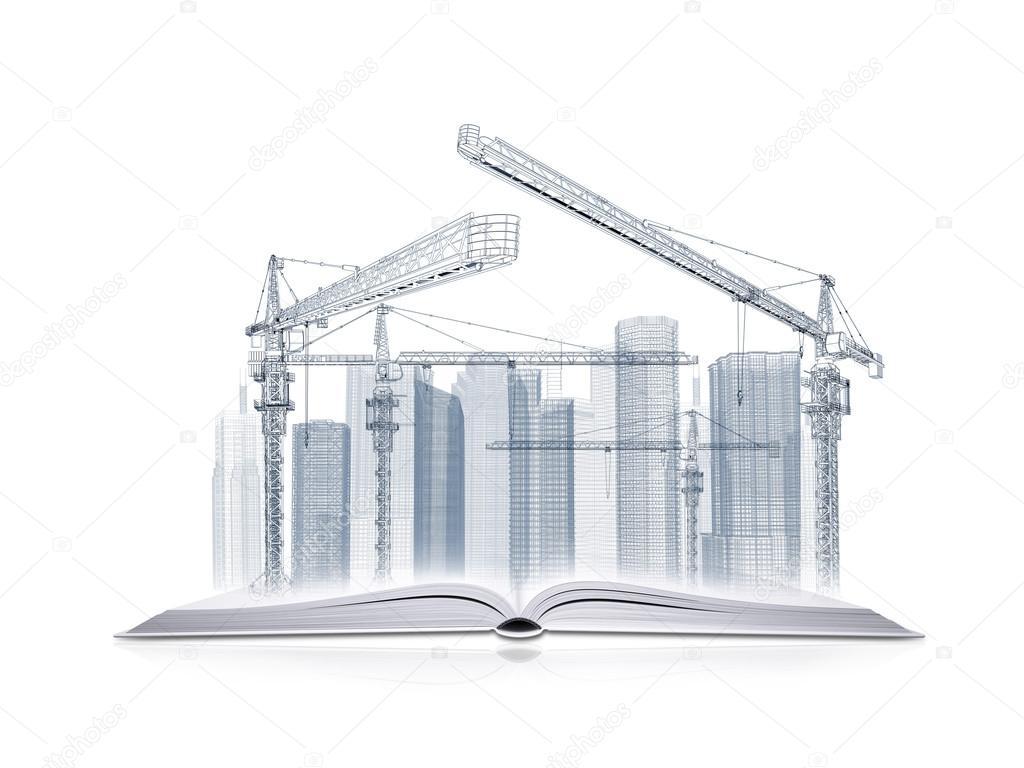 open book and wire frame skyscrapers stock photo cherezoff 45674151 rh depositphotos com Radio Wiring Diagram Radio Wiring Diagram