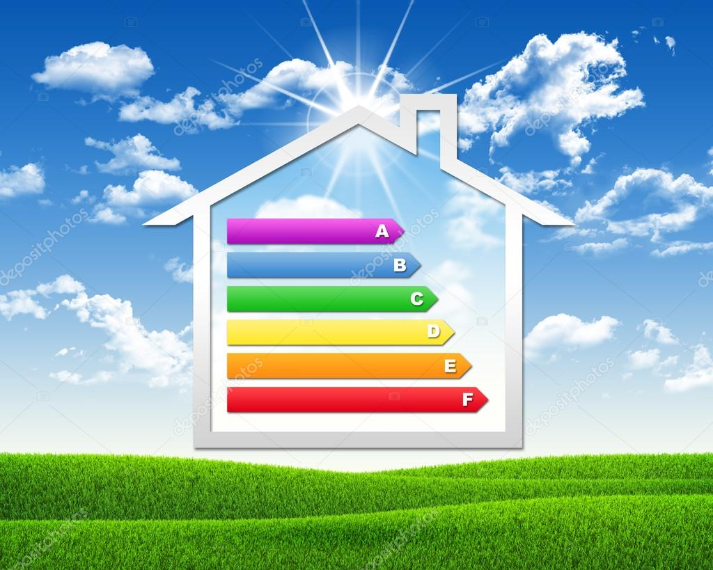 House icon with grid energy efficiency