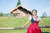 Fotografie Frau in den Alpen