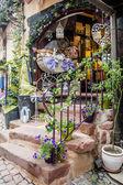 Photo Shop Entrance with Decoration
