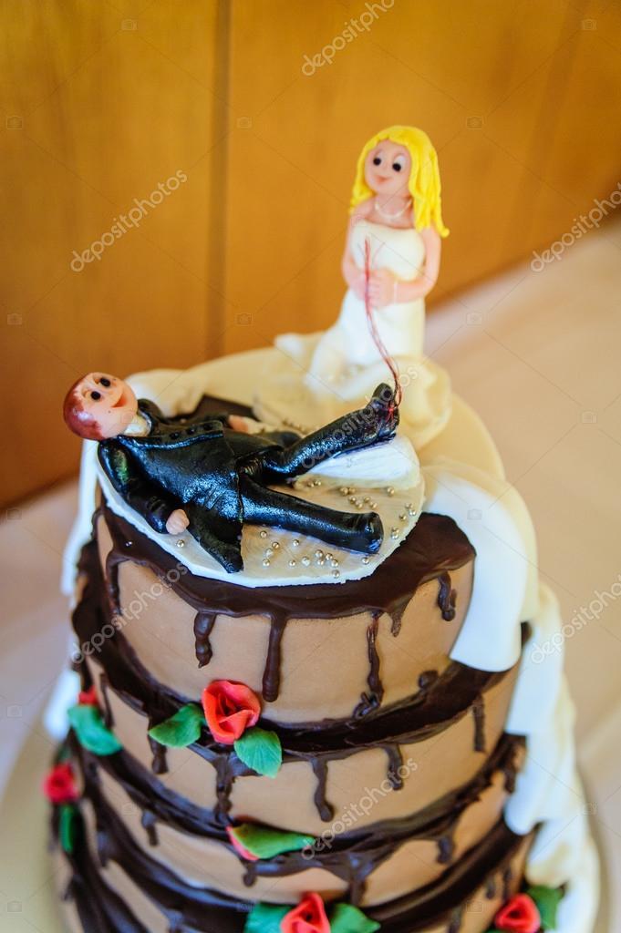 Funny Wedding Cake Top Stock Photo C Tepic 42460767