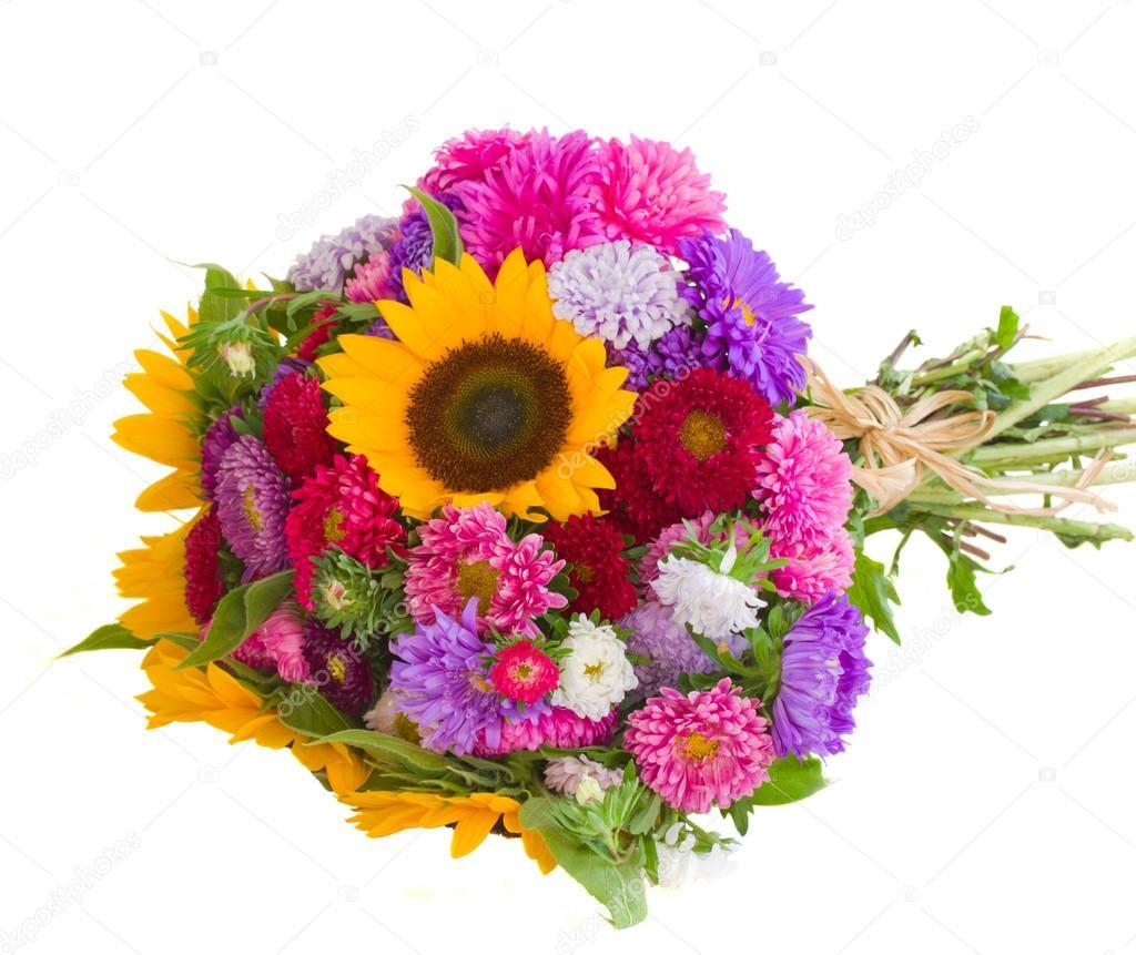букеты осенние цветов фото