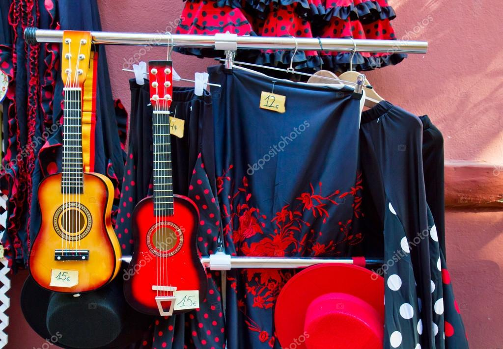 Traditional spanish suits for flamenco