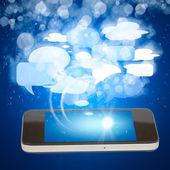 Koncept sociální média chytrý telefon