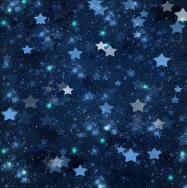 Christmas stars on blue background