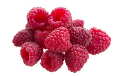 Pile of fresh raspberry