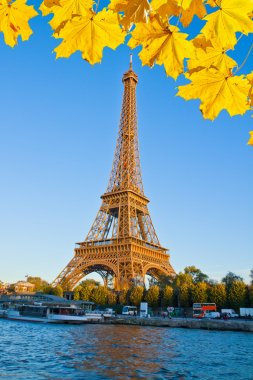 Eiffel tower and Seine river, France