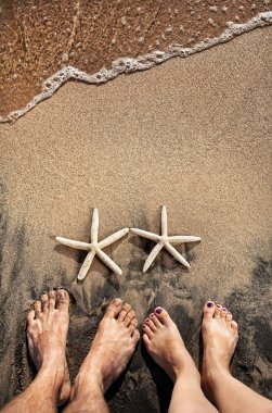 Legs and starfishes