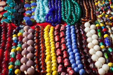 Necklaces at Goa market