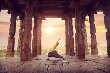 Yoga in Hampi temple