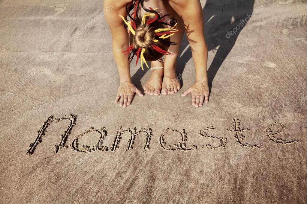 Yoga on the beach with Namaste