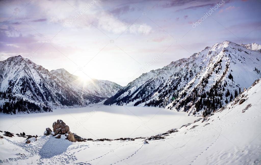 Winter Mountain Lake