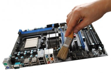 Cleaning the motherboard
