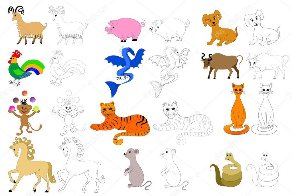 páginas para colorear para niños — Archivo Imágenes Vectoriales ...