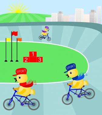 """Картина, постер, плакат, фотообои """"гонка к вершине на велотреке """", артикул 23641893"""