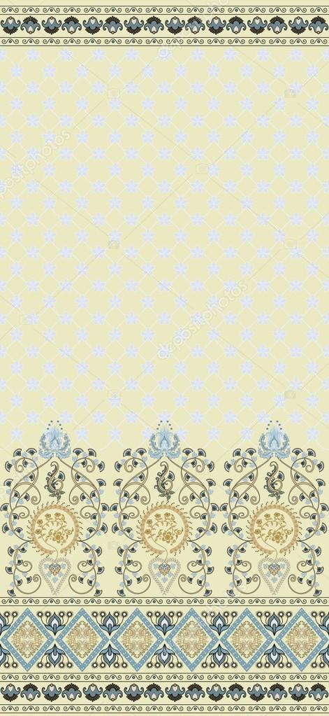 Muster mit Breite Häkelspitze — Stockvektor © rait #25932641