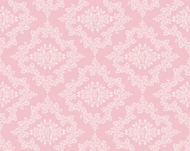 White diamond pattern with violets on a pink background clip art vector