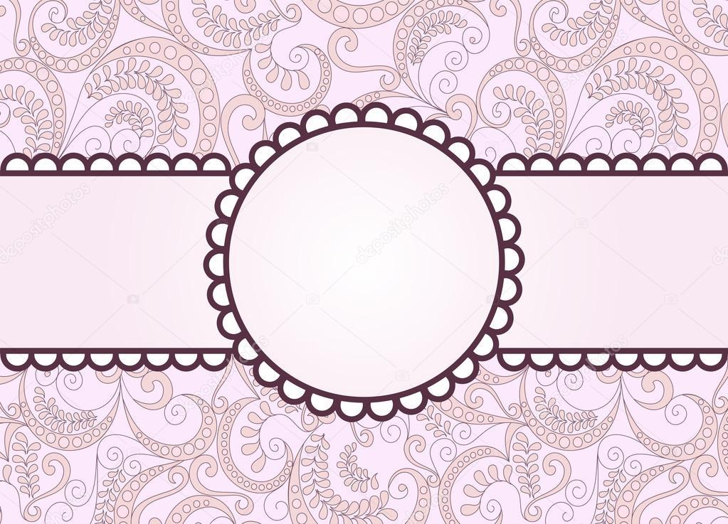 marco de color púrpura sobre un fondo rosa vintage — Archivo ...